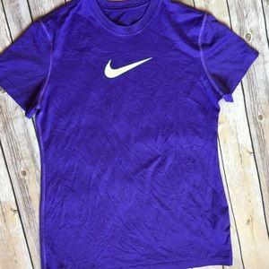 Purple nike dri fit tee